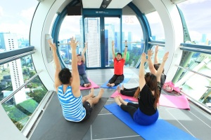 Workout In The Sky takes center stage amid wide selection of fitness and health activities and performances that are part of Singapore Flyer's Mind Body Spirit Festival on 11-12 May 2013