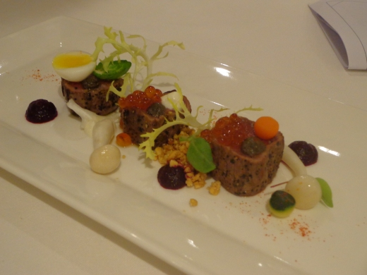 Lightly Seared Beef Tenderloin ($20), looks good but try it only when you want variety
