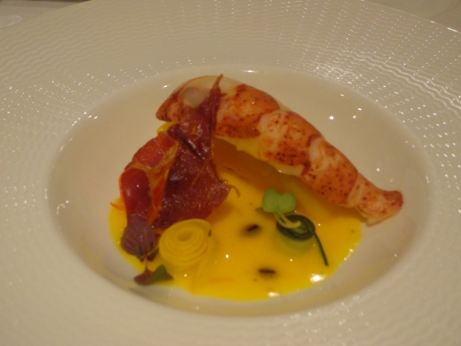 Sous Vide Half Maine Lobster ($24), recommended but my first choice is still the foie gras