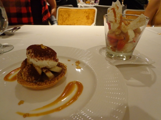 Foreground - Banoffee Tart ($13). Background - Eton Mess ($15).