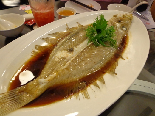 Garlic Steamed Megrim Fish ($100 per kg)