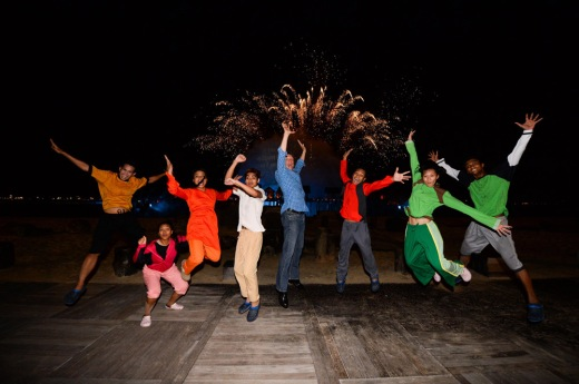 Sentosa-SOTS Closing - Cast and CEO in final celebratory jump - web